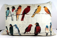 Climaweave Weather Resistant Indoor Outdoor Decorative Throw Pillow Birds Color