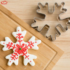 Christmas Snowflake Biscuit Pastry Cookie Cutter Cake Decor Baking Mold Tool