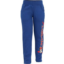 Children Girls Sweat Pants Blue Joggers Disney Minnie Mouse Size 98 104 116 128