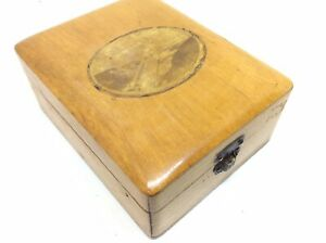 Superb Collectible Antique Vintage Wooden Pocket Watch Fob Display Box Case