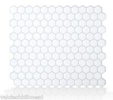 Smart Tiles Hexago 24.46 cm x 28.60 cm Peel & Stick Mosaic Tile in White