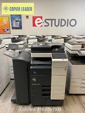Konica Minolta Bizhub C654e 23k Meter Onlycopier Printer Scan Booklet Finisher