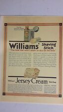 Vintage 1909 Advertising WILLIAMS BARBER SHAVE SOAP STICK CREAM Sign Color  Ad