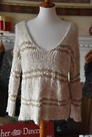 Womens Free People Linus Knit Sweater Pullover Wool Blend Size Medium