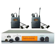 UHF Wireless In Ear Monitor System in ear Headphones Stage Monitoring 2 Receiver