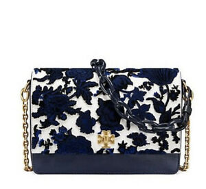 Tory Burch Navy and White Kira Fil Coup Crossbody bag New without Tags.