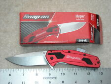 Kershaw Kai Snap-On SO84R Hype Red Exclusive Knife. Made in Oregon USA.
