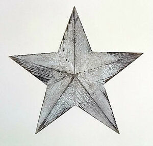 Hanging star white wooden wall decoration vintage retro style-39cm wide NEW