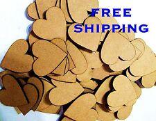 BUMPER  100   PACK 50mm plain HEARTS Great Deal scrapbooking charm Embelishments