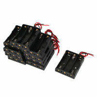 10 Pcs 4.5V Power Supply 3 x 1.5V AA Battery Holder Case Box Wire Lead Connector