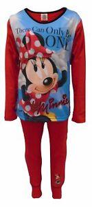 Girl's DISNEY Minnie Mouse Pyjama PJ's nightwear Loungewear 4-10 years