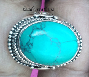 AAA Natural Turquoise Gemstone 925 Sterling Silver  Ring For Christmas Gift