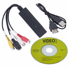 Black USB 2.0 Video Capture Card Converter PC Adapter TV Audio DVD DVR VHS FHGH