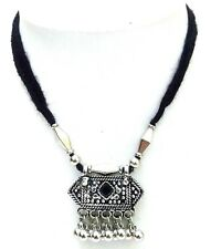 Silver Oxidize Imitation Necklace Pendant Choker Collar Long String Jewelry 8107