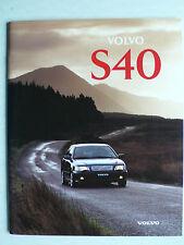 Prospekt Volvo S40, 1996, 48 Seiten