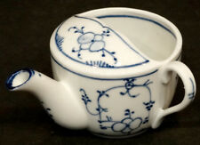 ANTIQUE Vintage INVALID FEEDER Porcelain China PAP BOAT Cup / BLUE & WHITE Onion