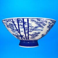 "Vtg Japanese Porcelain Rice Soup Bowls 5""in Made In Japan Oriental Blue & White"