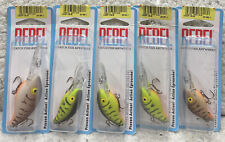 (5) Rebel Deep CB-B 2.5 Crank Baits Good Colors All New 549