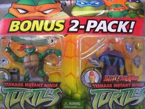 TMNT Figure Playset - Michelangelo vs Ultimate Ninja (2 pack)