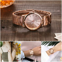 Fashion Men Women Geneva Simple Alloy Stainless Steel Dial Quartz Wrist Watch
