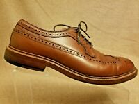 Alden for J.Crew 97641 Men Brown Leather Longwing Wingtip Oxford Shoes 8.5 B/D