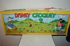 JEU DE CROQUET FAVRE MICKEY WALT DISNEY VINTAGE 1986 RETRO GAMING KROCKET
