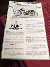 PUCH 175 SV SVS prospetto opuscolo brochure depliant originale