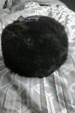 Ladies. Black Faux Fur Hat Bnwt Rrp £19.99 By Accessories
