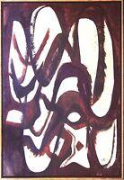 Heiner Malkowsky 1920-1988: Komposition Beige-Braun, Informel 1970, 100 x 70 cm