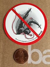 No Rats Organized Labor Hard Hat Sticker Decal Union