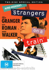 Strangers On A Train DVD ALFRED HITCHCOCK TOP 250 MOVIES 2-DISCS BRAND NEW R4
