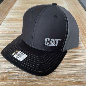NEW - Caterpillar Cat Equipment Richardson 112 Trucker Hat Cap - Charcoal Black