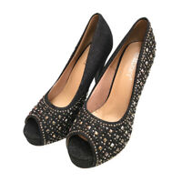 7f481cdca8bb New women s shoes evening rhinestones slip on high heel wedding prom black