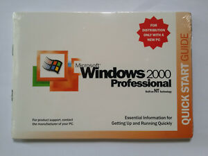 MICROSOFT WINDOWS 2000 PROFESSIONAL w/SP1 FULL OPERATING SYSTEM WITH LIC =NEW=