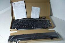 Dell Black Multimedia Keyboard w/2-Port USB Hub Sleep Play Vol KB522 7KKPH NEW