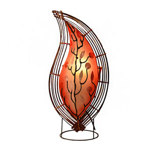 RED Leaf Design Capiz Shell Lamp Bedside Table Fair Trade Hand Made