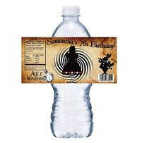 GOTH ALICE IN WONDERLAND PERSONALIZED BIRTHDAY PARTY FAVORS WATER BOTTLE LABELS