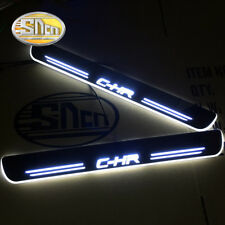 Led door sill for Toyota CHR C-HR moving light door scuff plate pedal
