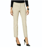 Alfani Pants Tummy Control Slim Leg Beige Ankle Career Sz 12 NEW NWT 386