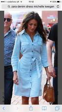 ZARA Light Blue Denim Shirt Dress S BNWT