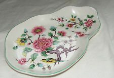 RARE Vintage saucer Old Foley Chinese Rose Porcelain saucer 1950's James Kent