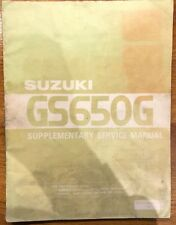 Suzuki GS650G Supplementary Service Manual