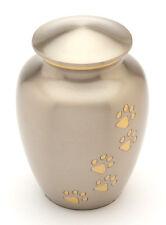 """Matlock Pewter 7"""" Cremation Ashes Medium Pet Urn"""