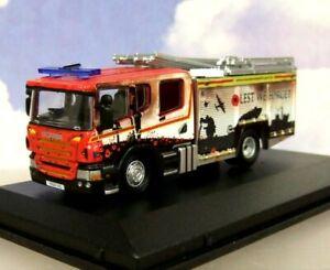 OXFORD 1/76 SCANIA CP31 PUMP LADDER ENGINE HUMBERSIDE FIRE & RESCUE 76SFE011