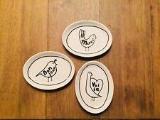 Creative Co-Op Sayings 3 Piece Stoneware Plate Set