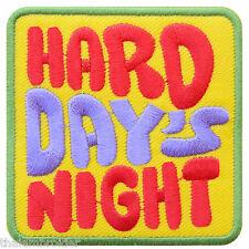 Hard Day's Night Slogan Beatles Biker Music Rock Punk Biker Iron-On Patches C021