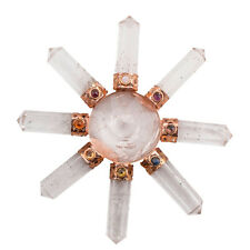 Clear Quartz 7 Points Cone Chakra Energy Generator Gift Spiritual Reiki Crystal
