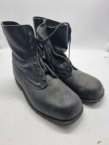 Swedish Army Combat Boots BLACK RETRO VINTAGE Genuine NEW  ORIGINAL GIFT