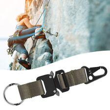 Climbing Hook Nylon Webbing Hanging Buckle Tactics Durable Carabiner Keychain