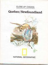 National Geographic Map: Close Up Canada, Quebec & Newfoundland, 1980